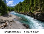 Middle Fork Flathead River in Glacier National Park, Montana USA