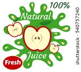 natural fresh juice  100 ... | Shutterstock .eps vector #540757240