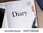 text diary in notepad  diary  ... | Shutterstock . vector #540758008