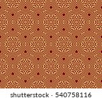 red and gold color seamless... | Shutterstock .eps vector #540758116