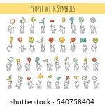 cartoon icons set of sketch... | Shutterstock .eps vector #540758404