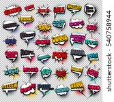 big set colored comic text... | Shutterstock .eps vector #540758944