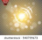 glow light effect. star burst... | Shutterstock .eps vector #540759673