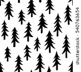 hand drawn doodle pine tree... | Shutterstock .eps vector #540763654