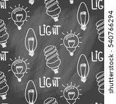 lamp light bulb hand drawn... | Shutterstock .eps vector #540766294