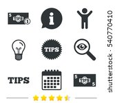 tips icons. cash with coin... | Shutterstock .eps vector #540770410