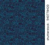 blue line coding seamless... | Shutterstock .eps vector #540778420