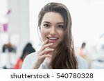 beauty smiling model with... | Shutterstock . vector #540780328