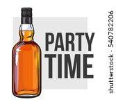 whiskey bottle  sketch style... | Shutterstock .eps vector #540782206