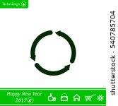 circular arrows vector icon | Shutterstock .eps vector #540785704