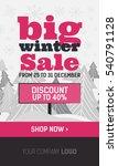 pink and black web banner big... | Shutterstock .eps vector #540791128