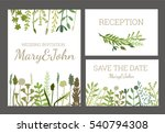 vintage wedding set with... | Shutterstock .eps vector #540794308