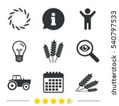 agricultural icons. wheat corn... | Shutterstock .eps vector #540797533