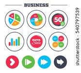 business pie chart. growth... | Shutterstock .eps vector #540797539