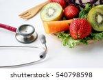 vegetable and stethoscope ... | Shutterstock . vector #540798598