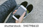 jogger using smart phone ... | Shutterstock . vector #540798610