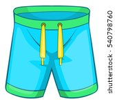 sport shorts icon. cartoon... | Shutterstock .eps vector #540798760