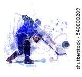 vector illustration of a hockey ...   Shutterstock .eps vector #540800209