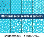 christmas seamless patterns.... | Shutterstock .eps vector #540802963