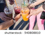 cropped image of friends in... | Shutterstock . vector #540808810