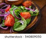 Salad With Arugula  Tomatoes...
