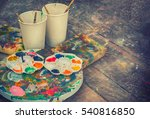 Paint Brushes And Palette Wate...