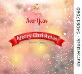 christmas landscape poster. eps ... | Shutterstock .eps vector #540817060