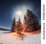 frosty winter night of... | Shutterstock . vector #540824044