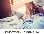 businessman are analyzing a... | Shutterstock . vector #540825169