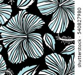 aloha hawaiian shirt vector... | Shutterstock .eps vector #540827980