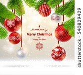 christmas background with a...   Shutterstock .eps vector #540829429