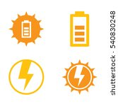 a group of simple vector solar...   Shutterstock .eps vector #540830248