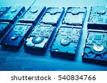 Hard Disk Drives In A Rows ...
