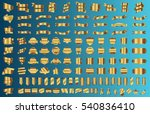 banner ribbon label gold vector ... | Shutterstock .eps vector #540836410