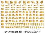 label ribbon banner gold vector ... | Shutterstock .eps vector #540836644
