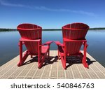 Red Chairs   Lake House