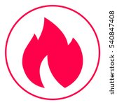 fire  flame icon | Shutterstock .eps vector #540847408