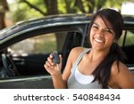 young hispanic woman holding... | Shutterstock . vector #540848434