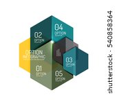 infographic banner layouts with ... | Shutterstock .eps vector #540858364