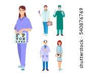 doctor  nurse character vector. ... | Shutterstock .eps vector #540876769
