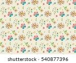 flora gift wrapping wallpaper... | Shutterstock .eps vector #540877396