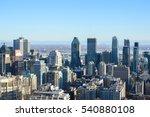 montreal skyline in winter ... | Shutterstock . vector #540880108