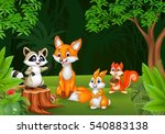 cartoon wild animal in the... | Shutterstock .eps vector #540883138