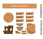 game interface elements ...