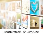 colorful pictures of husband... | Shutterstock . vector #540890020