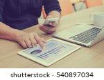 close up employee hand point...   Shutterstock . vector #540897034
