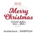 illustration of merry christmas ... | Shutterstock .eps vector #540899164