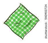hand drawn striped green napkin ... | Shutterstock .eps vector #540903724