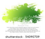 green and yellow ink patch | Shutterstock .eps vector #54090709