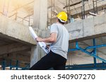 young business man construction ... | Shutterstock . vector #540907270